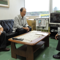 日本共産党神奈川県委員会で田母神委員長に要請する菊谷理事長と飛田常任理事